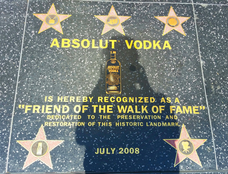 Aleja gwiazd Hollywood Vodka Absolut