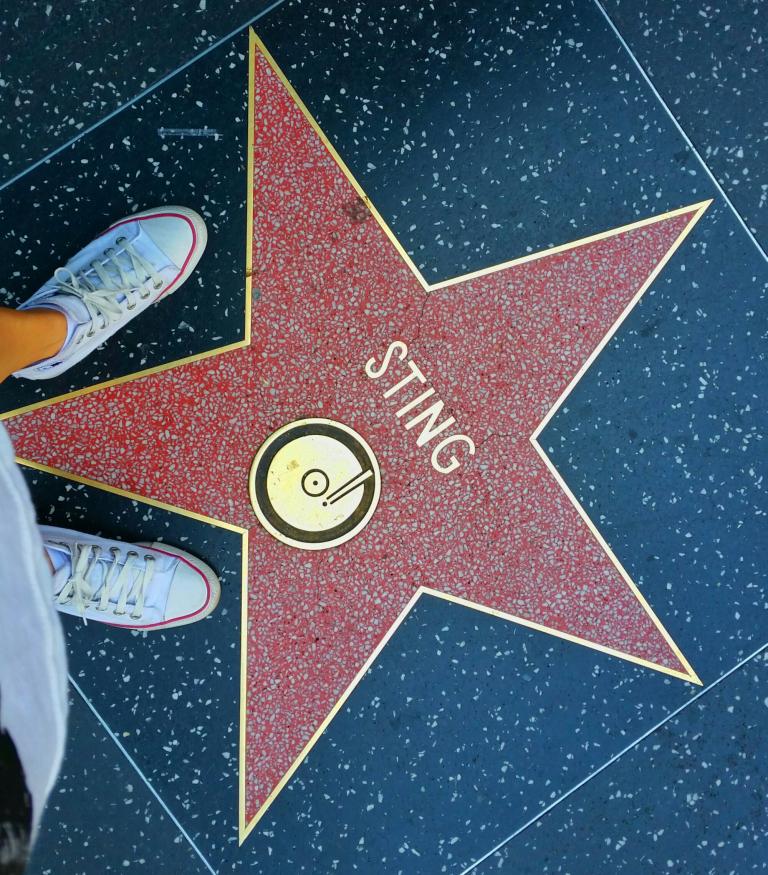 Aleja gwiazd Hollywood Sting