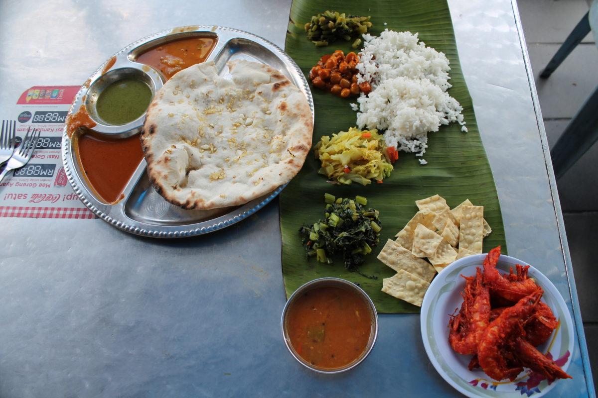 Malezja jedzenie krewetki