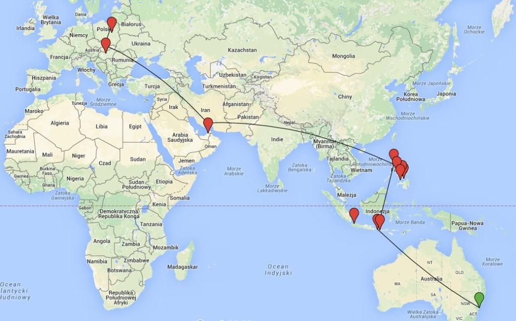 lovelajf mapa sto dni w podróży trasa