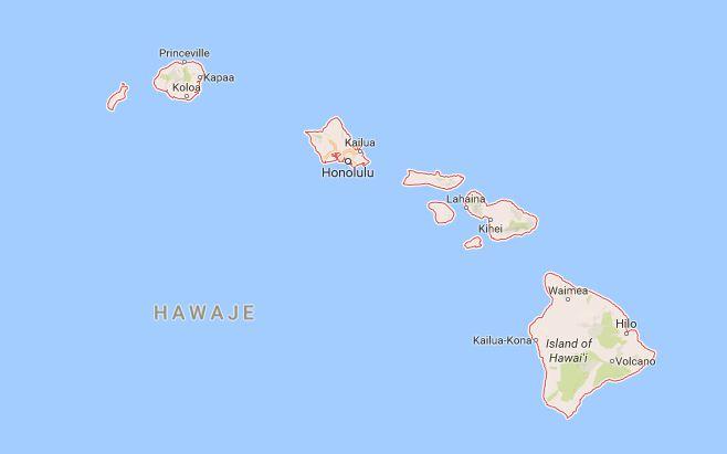 Hawaje wakacje mapa wyspy warto zobaczyć na Hawajach