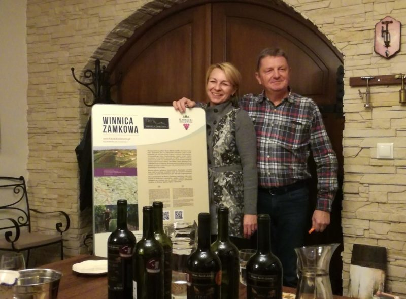 Karpacki szlak wina, winnice na podkarpaciu Winnica Zamkowa