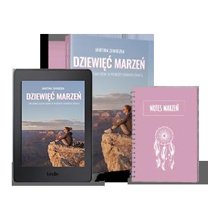 książka i ebook dziewięć marzeń