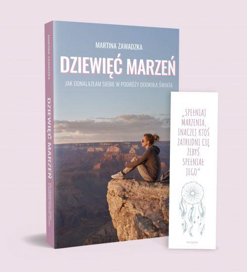 Książka Dziewięć marzeń z zakładką Martina Zawadzka